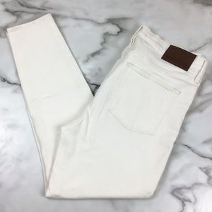"J. Crew 9"" High Rise Skinny Jeans Off White"